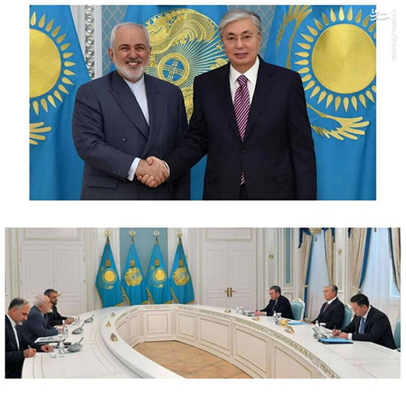 حرکت عجیب ظریف و رئیس جمهور قزاقستان +عکس