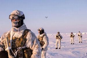 فیلم/ مانور نظامی روسیه در قطب شمال
