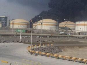 فیلم/ آتشسوزی در تاسیسات نفتی کرکوک