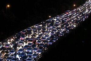 ترافیک سنگین در محورهای مواصلاتی استان تهران