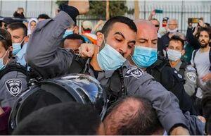 کتک خوردن قانونگذار اسرائیلی از پلیس این رژیم +فیلم