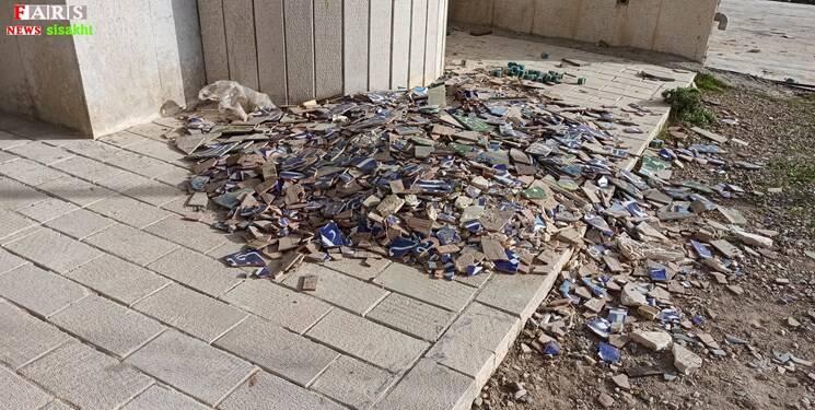 بیتوجهی به اماکن متبرکه آسیبدیده از زلزله سیسخت +عکس و فیلم