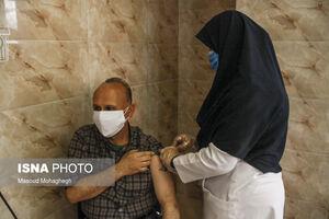 عکس/ تزریق واکسن کرونا به بیماران خاص در سمنان
