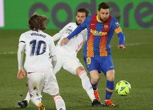 عکس/ شکست بارسلونا مقابل رئال مادرید