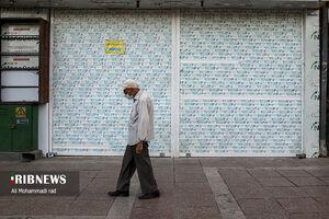 عکس/ شروع موج چهارم کرونا و تعطیلی بازار شیراز