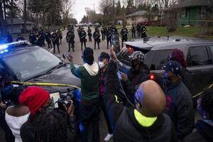 درگیری میان پلیس و معترضان در آمریکا +فیلم