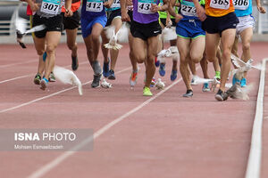 عکس/ کبوترهای دردسرساز در مسابقات دوومیدانی مشهد