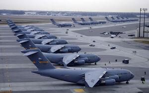 آتش گرفتن هواپیمای «گلوب مستر» نیروی هوایی آمریکا