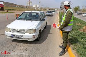عکس/ کنترل تردد خودروها در ورودیهای شهر بجنورد