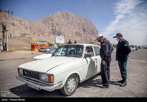 عکس/ کنترل تردد پلاک غیربومی توسط پلیس راه کرمانشاه