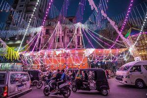 عکس/ چراغانی شهر قاهره همزمان با ماه رمضان