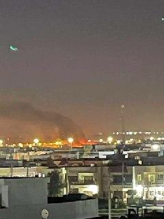 حمله پهپادی به پایگاه آمریکاییها در اربیل +فیلم