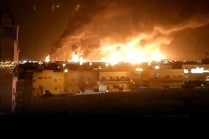 تصاویر جدید از آتش سوزی گسترده در شرکت آرامکو