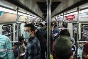 عکس/ مترو در روزهای خطرناک تهران