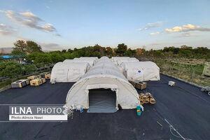 عکس/ راه اندازی بیمارستان صحرایی در قزوین