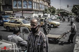 عکس/ تهران به رنگ قرمز کرونایی