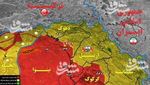 حیاط خلوت آمریکا و صهیونیستها زیر آتش مقاومت عراق/ روزهای سخت در انتظار خاندان بارزانی+ نقشه میدانی و عکس