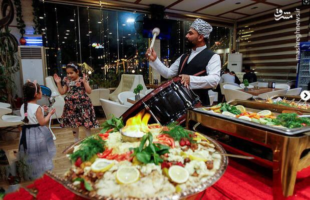 افطاری در رستورانی در نجف