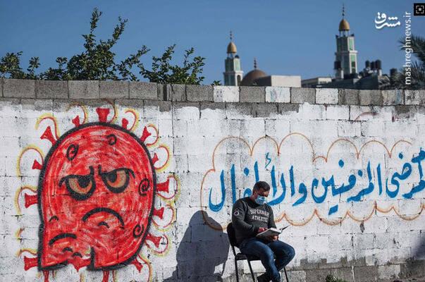 قرآن خواندن یک شهروند در غزه