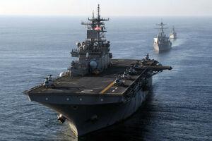 استقرار کشتی جنگی بلژیک در تنگه هرمز
