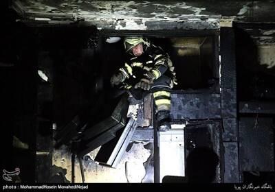 آتش سوزی در پاساژ مهستان