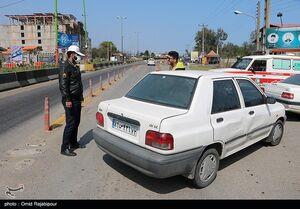 عکس/ کنترل تردد پلاک غیربومی توسط پلیس راه