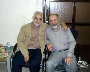 عکس/ سردار حجازی و شهید حاج قاسم سلیمانی در یک قاب