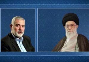 پیام تسلیت اسماعیل هنیه به رهبر انقلاب به مناسبت درگذشت سردار حجازی