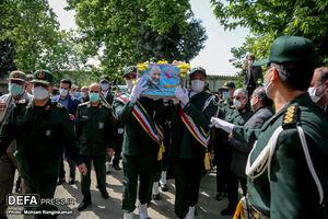 عکس/ حضور چهرهها در مراسم تشییع پیکر سردار حجازی