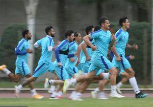 برگزاری تمرین در دو گروه و تبریک به مدافع آبیپوشان
