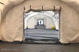 عکس/ راه اندازی نقاهتگاه و بیمارستان صحرایی بیماران کرونایی