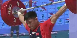 جابجایی دوباره رکورد دسته 81 کیلوگرم وزنهبرداری در دو دقیقه +عکس