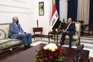 دیدار  رییس جمهوری عراق با سفیر روسیه در بغداد