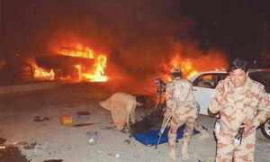 تصویری از محل انفجار مرگبار در کویته