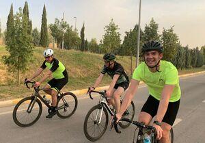 عکس/ دوچرخه سواری رئیس اقلیم کردستان و سفیر انگلیس