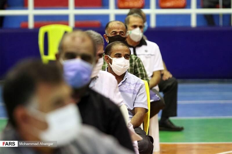 صف انتظاربیماران خاص  برای واکسیناسیون