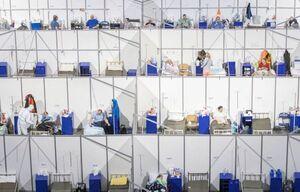 تصویری جالب از بیمارستان صحرایی بیماران کرونا