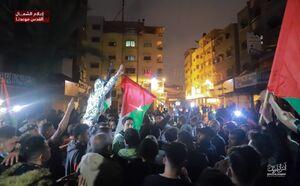 فیلم/ شادی فلسطینیان از حملات مقاومت