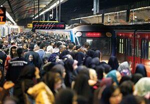 عکس/وضعیت متروی تهران در اوج بحران کرونا