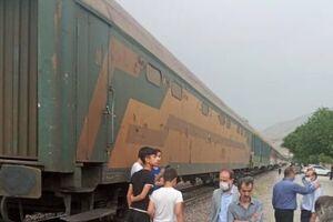 برخورد قطار با ال۹۰ در شهر قدس