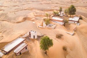 عکس/ دهکدهای دفن شده در المدام