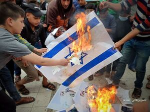 محو نماد اسرائیل توسط بچهها+ فیلم