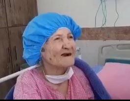 فیلم/ پیرزن ۱۱۱ ساله اهوازی کرونا را شکست داد