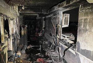 تصاویری از بیمارستان ابن الخطیب پس از آتش سوزی شب گذشته