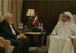 دیدار ظریف با همتای قطری