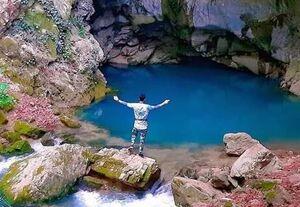 غار آبی زیبای دیورش+ تصاویر
