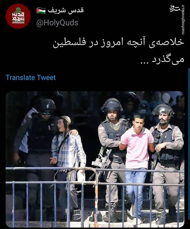 خلاصه آنچه امروز در فلسطین میگذرد به روایت تصویر