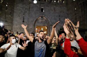 فیلم/ مقاومت فلسطینیها و عقبنشینی صهیونیستها