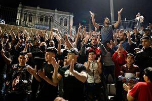 عکس/ خوشحالی شبانه فلسطینیها در بیتالمقدس