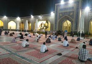 مراسم توسل برای شفای مبتلایان هندی کرونا در حرم امام رضا(ع)  +عکس